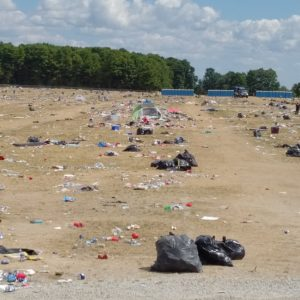 Camping Festival Waste Aftermath | Green Event Ninjas
