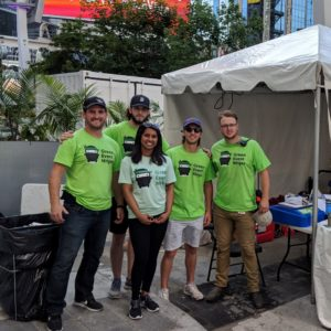 Our Cleaning Ninjas at NXNE | Green Event Ninjas