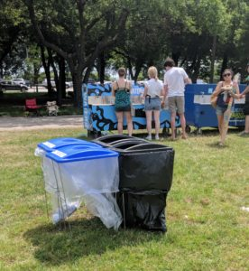 Wire Frame Garbage and Recycling Bins | Green Event Ninjas