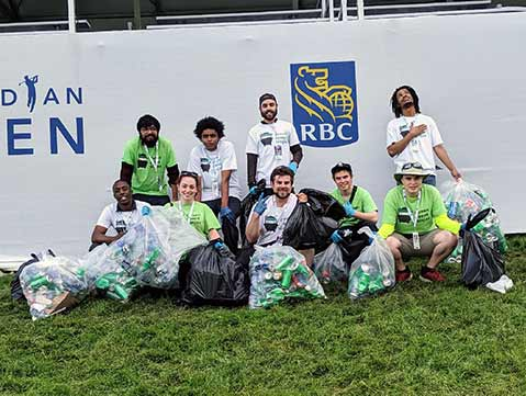 18th Hole Photo Op for our Event Recycling Ninjas at the RBC Canadian Open PGA